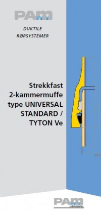 Strekkfast 2-kammermuffe type Universal Standard / Tyton Ve
